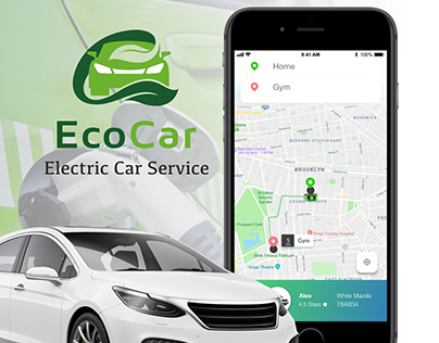 EcoCar - Electric Car-Service User Interface Concept
