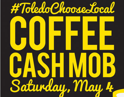 Coffee Cash Mob Cafe Poster