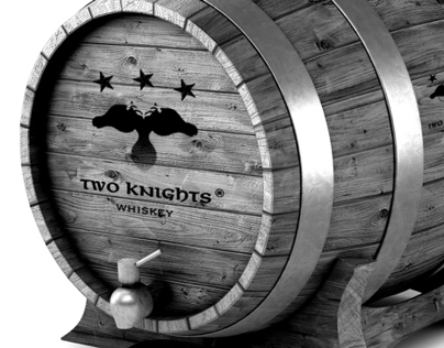 Packaging: Two Knights Whiskey