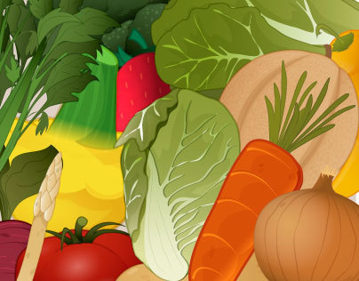 Vegetales icons for web game