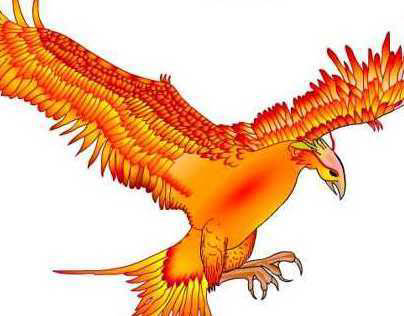 Phenix art created in Flash