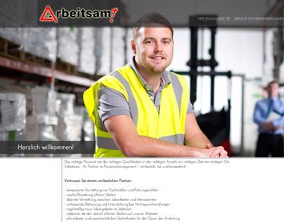 Arbeitsam - projekt strony