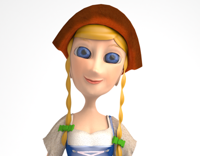 The Girl of the Clock - 3D Model