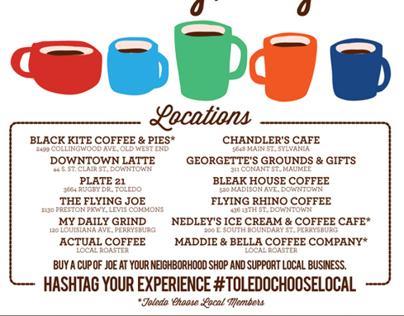 Coffee Cash Mob ad for Toledo City Paper