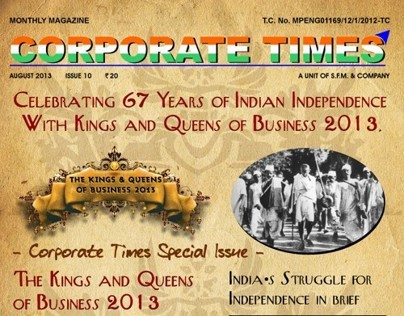Corporate Times Magazine - August 2013 - Royal Edition
