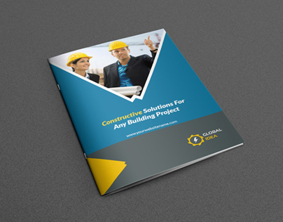 Construction Business Brochure Template On Behance