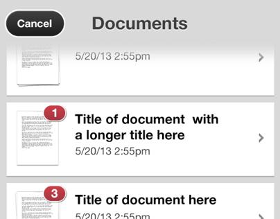 iOS PDF Scanner App Design