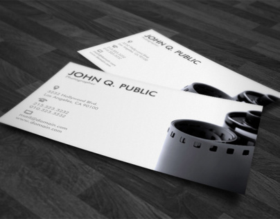 Black and White Photographer Business Cards