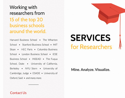 Services for Academia - Brochure