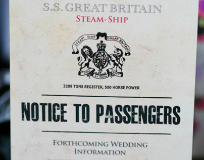 SS Great Britain Wedding Stationery