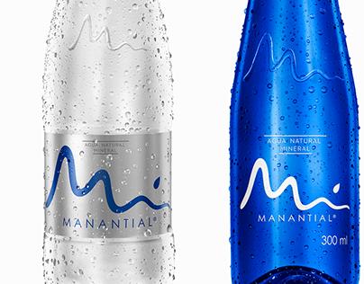 Rediseño Botellas Agua Manantial