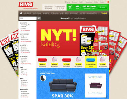 UX, web analyses and wireframing biva.dk