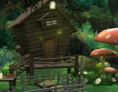 3D Environment - Witch Cottage