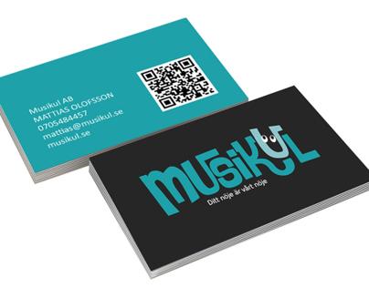 MUSIKUL - Logotype and business card