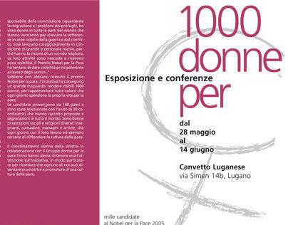 """Esposizione """"1000 donne per la pace"""""""