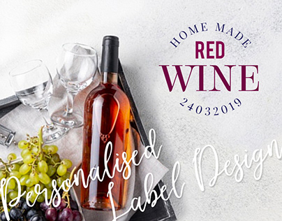 Label Design for Home made Red Wine