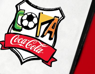 Coke brand soccer cup