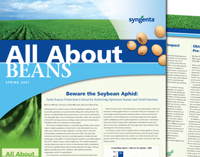 Syngenta All About Beans newsletter
