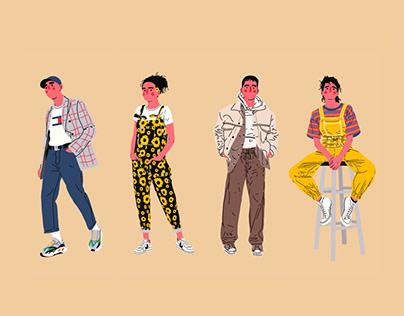 Fashion Character Illustrations