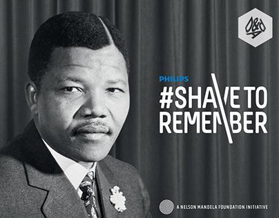 Philips & Nelson Mandela Foundation   Shave To Remember