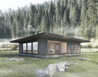 Forest Tiny Home | 3D Architectural Visualization & CGI
