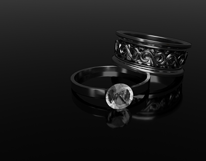 3D Jewelry Ring Modelling