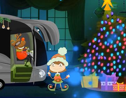 Navidad con trineo de Autobús