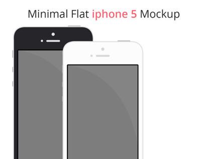 Minimal Flat Iphone5 Mockup