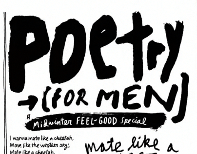 """Esquire, February 2013, """"Poetry for Men"""""""