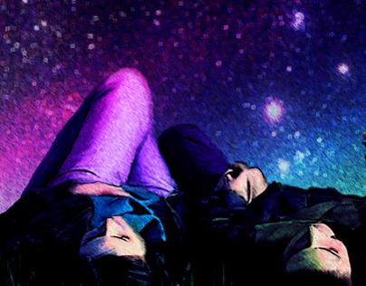 Stars one night of August