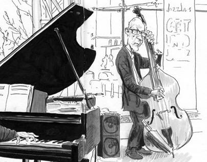 Live Jazz Sketchbook Drawings