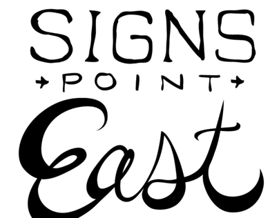 Signs Point East Band Design
