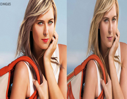 sharapova after some studio techniques re-touches