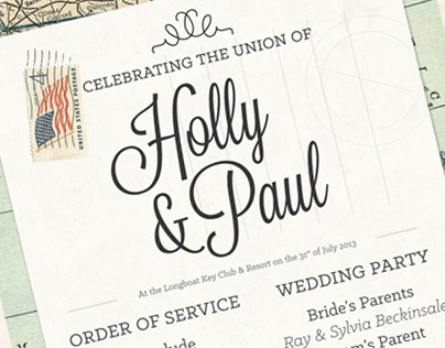 Order of Service for a Destination Wedding in Florida