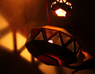 Geometric Paper Lamp