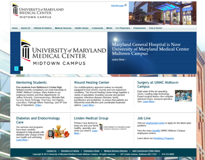 University of Maryland Midtown Campus website
