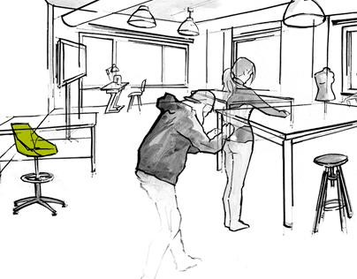 Estación Diseño illustrations
