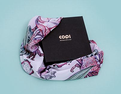 KOPI scarf print illustration