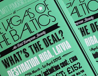 Typographic Stag Poster Invitation