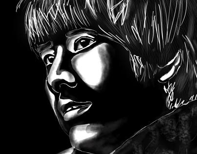 digital black and white portraits
