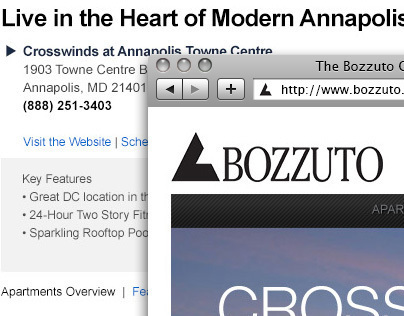 Bozzuto Landing Page