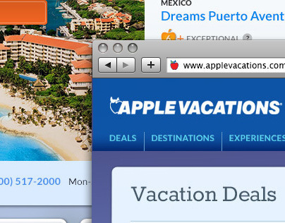 Apple Vacations - Deals Landing Page
