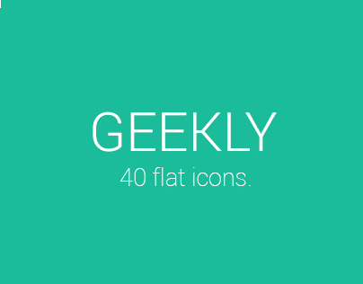 Geekly - 40 Flat Icons.