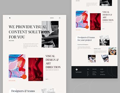 Design Agency Landing Page V4