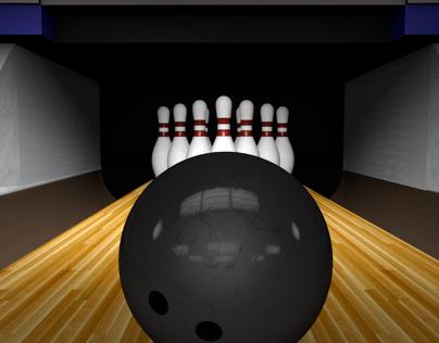 Following Bowling Ball Down the Lane For a Strike