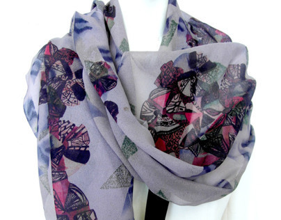 Re-printed vintage scarves-Raw and Rare