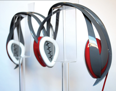 Love/Music - 3D printed, 2 person headphone (2013)