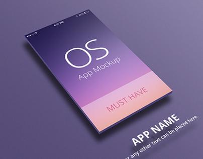 iOS App Mockup for iPhone 5 & iPad