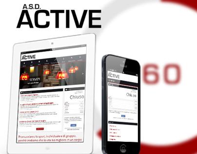 ACTIVE Fitness Center - Website - Flat responsive