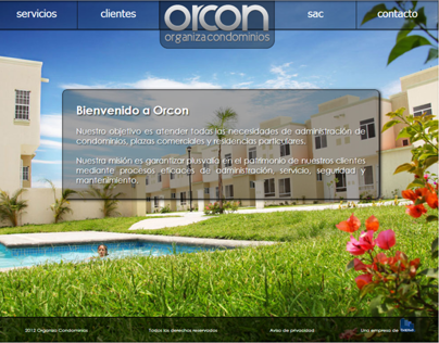 Página web de Orcon y plataforma virtual SAC.
